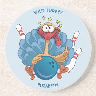Dessous De Verre En Grès La Turquie sauvage de roulement avec la boule et