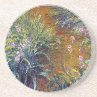 Dessous De Verre En Grès Le chemin à travers les iris par Claude Monet