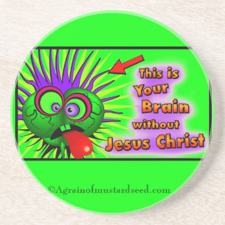 Dessous De Verre En Grès Le chrétien cite inspiré