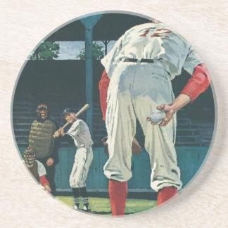 Dessous De Verre En Grès Le cru folâtre le broc de joueurs de baseball sur