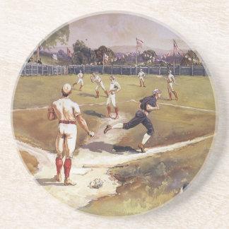 Dessous De Verre En Grès Le cru folâtre le jeu de baseball par Henry