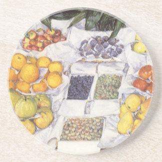 Dessous De Verre En Grès Le fruit se tiennent prêt Gustave Caillebotte, art