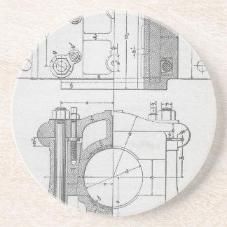 Dessous De Verre En Grès Le graphique vintage du mécanicien industriel