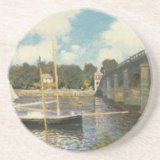 Dessous De Verre En Grès Le pont en route à Argenteuil par Claude Monet