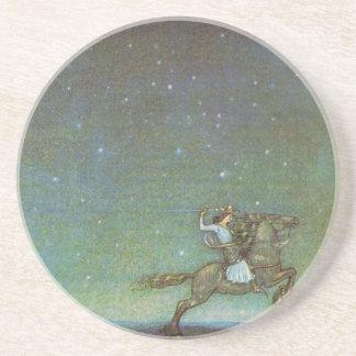 Dessous De Verre En Grès Le prince Rides dans le clair de lune par John