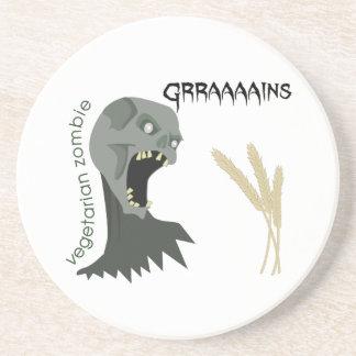 Dessous De Verre En Grès Le zombi végétarien veut Graaaains !