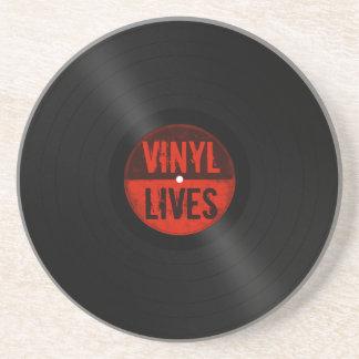 Dessous De Verre En Grès Les rétros vies de vinyle d'album