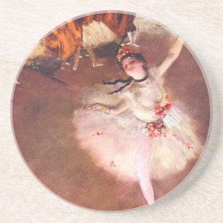 Dessous De Verre En Grès L'étoile (danseur sur l'étape) par Edgar Degas