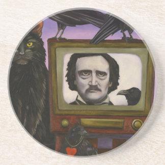 Dessous De Verre En Grès L'exposition de Poe