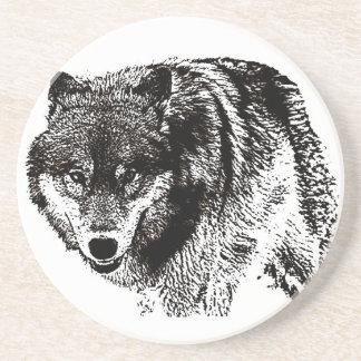 Dessous De Verre En Grès Loup sauvage