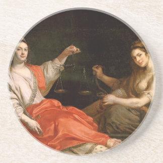 Dessous De Verre En Grès L'unité et la justice par Theodoor van Thulden
