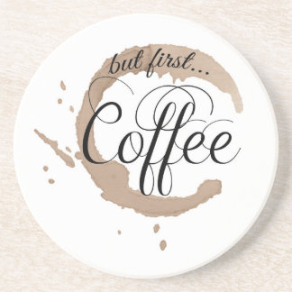 Dessous De Verre En Grès Mais d'abord, café…