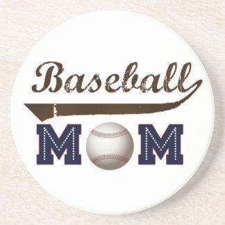 Dessous De Verre En Grès Maman vintage de base-ball de style