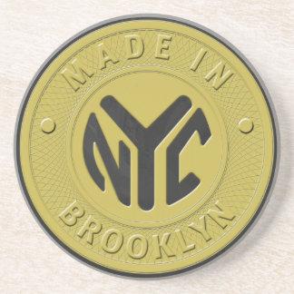 Dessous De Verre En Grès Marque de souterrain de Brooklyn