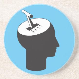 Dessous De Verre En Grès mode de cerveau - levier de pensée de décalage