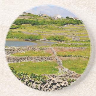 Dessous De Verre En Grès Murs en pierre de l'Irlande