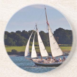 Dessous De Verre En Grès Naviguant à Newport, Île de Rhode, Etats-Unis