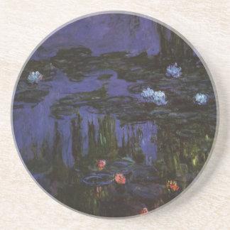 Dessous De Verre En Grès Nénuphars par Claude Monet, impressionisme vintage