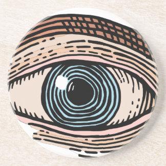 Dessous De Verre En Grès Oeil de Providence (transparent)