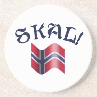 Dessous De Verre En Grès Pain grillé potable norvégien de Skal avec le