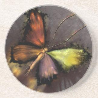 Dessous De Verre En Grès Papillon
