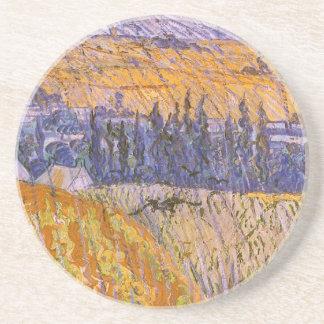 Dessous De Verre En Grès Paysage chez Auvers sous la pluie, Vincent van