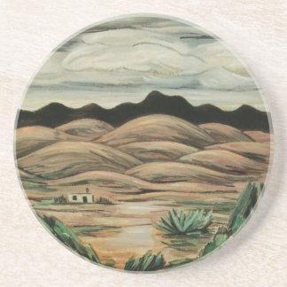 Dessous De Verre En Grès Paysage vintage, scène de désert par Marsden