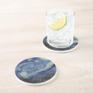 Dessous De Verre En Grès Peinture de Vincent van Gogh de nuit étoilée