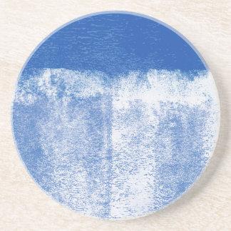 Dessous De Verre En Grès Peinture roulée par bleu