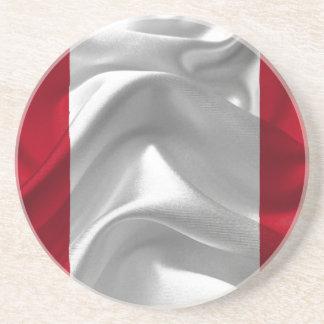Dessous De Verre En Grès Pérou-Drapeau