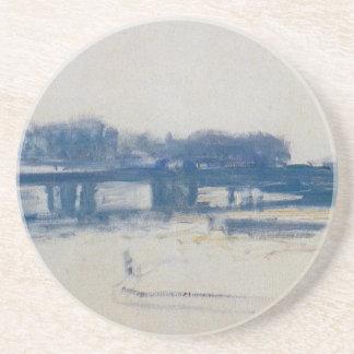 Dessous De Verre En Grès Pont croisé de Charing (étude) par Claude Monet