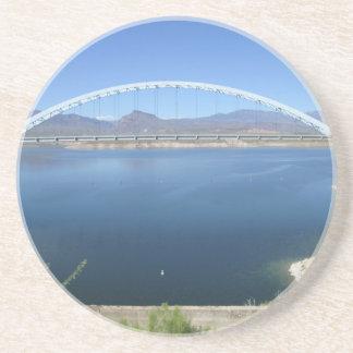 Dessous De Verre En Grès Pont de voûte de lac roosevelt