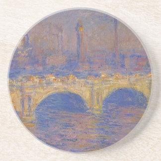Dessous De Verre En Grès Pont de Waterloo, effet de lumière du soleil par
