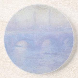 Dessous De Verre En Grès Pont de Waterloo par art d'impressionisme de