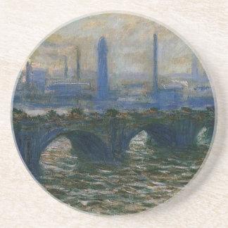 Dessous De Verre En Grès Pont de Waterloo par Claude Monet