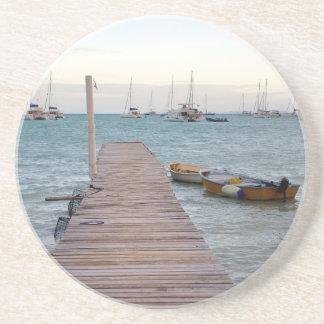 Dessous De Verre En Grès Pots de dock et de homard