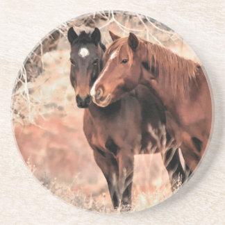Dessous De Verre En Grès Pousser du nez des chevaux