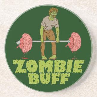 Dessous De Verre En Grès Poussoir de poids drôle de cuir épais de zombi