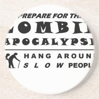 Dessous De Verre En Grès Préparez-vous au zombi