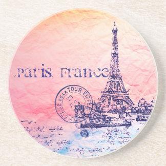Dessous De Verre En Grès Rose et pastels Paris impressionniste France