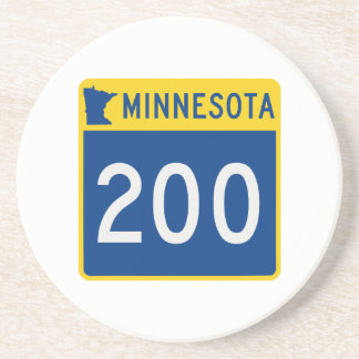 Dessous De Verre En Grès Route 200 de tronc du Minnesota