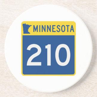Dessous De Verre En Grès Route 210 de tronc du Minnesota