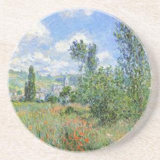 Dessous De Verre En Grès Ruelle dans les domaines de pavot - Claude Monet