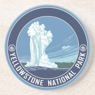 Dessous De Verre En Grès Souvenir de parc national de Yellowstone