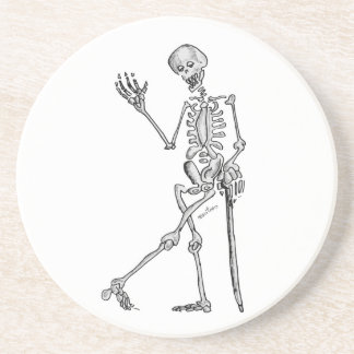 Dessous De Verre En Grès Squelette