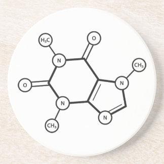 Dessous De Verre En Grès structure moléculaire de caféine