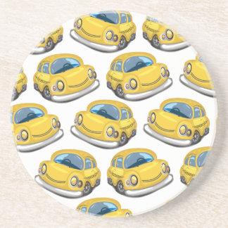 Dessous De Verre En Grès Taxi jaune de cabine