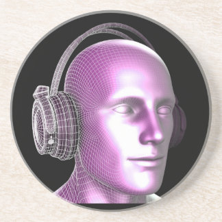Dessous De Verre En Grès Technologie de musique créative et d'état rêveur