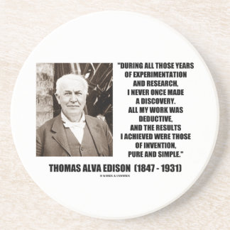 Dessous De Verre En Grès Thomas Edison résulte citation simple pure