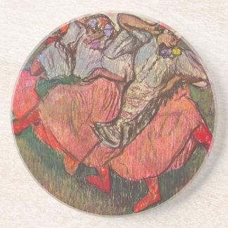 Dessous De Verre En Grès Trois danseurs russes par Edgar Degas